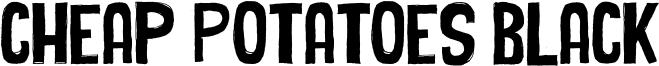 Cheap Potatoes Black Font