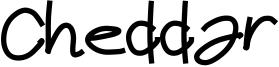 Cheddar Font