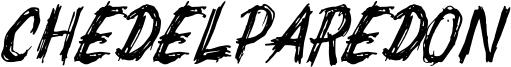 Chedelparedon Font