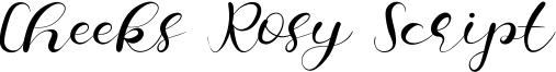Cheeks Rosy Script Font