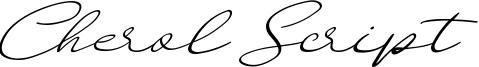 Cherol Script Font