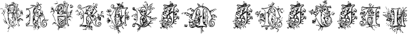 Cherubim Initials Font