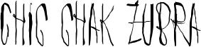 Chic chak zubra Font