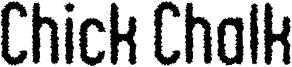 Chick Chalk Font