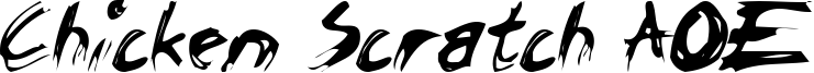 Chicken Scratch AOE Font