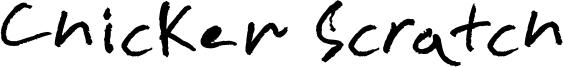 Chicken Scratch Font