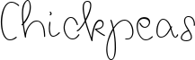 Chickpeas Font