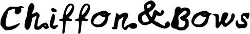 Chiffon&Bows Font