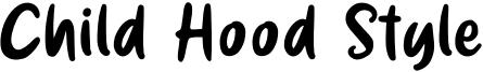 Child Hood Style Font