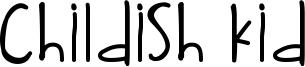 Childish Kid Font
