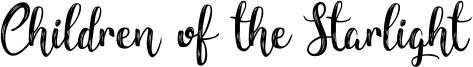 Children of the Starlight Font