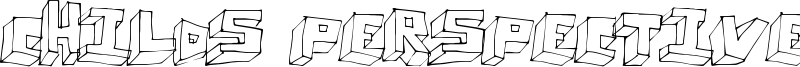 Childs Perspective Font