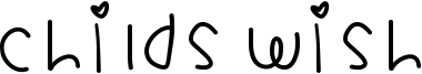 Childs Wish Font