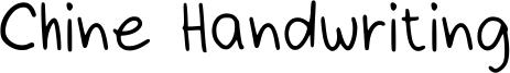 Chine Handwriting Font