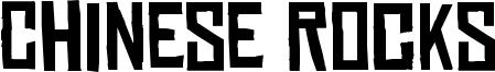 Chinese Rocks Font