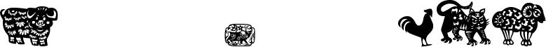 Chinese Zodiac TFB Font