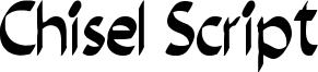 Chisel Script Font