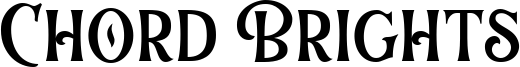 Chord Brights Font