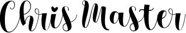 Chris Master Font