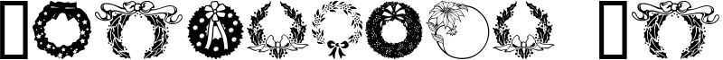 Christmas Wreath Font
