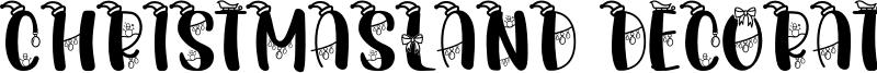 Christmasland Decorative Font