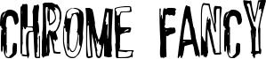 Chrome Fancy Font