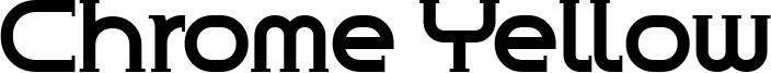 Chrome Yellow Font