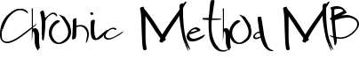 Chronic Method MB Font