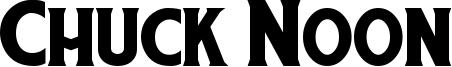 Chuck Noon Font