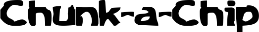 Chunk-a-Chip Font