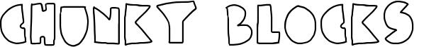 Chunky Blocks  Font