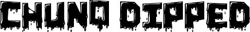 Chunq Dipped Font