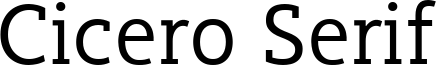 Cicero Serif Font