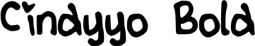 Cindyyo Bold Font