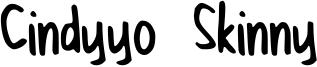 Cindyyo Skinny Font