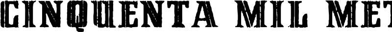 Cinquenta Mil Meticais Font