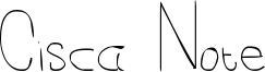 Cisca Note Font