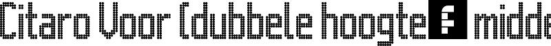 Citaro Voor (dubbele hoogte, midden/dubbel) Font