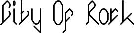 City Of Rock Font