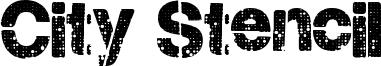 City Stencil Font