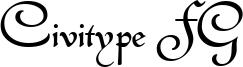 Civitype FG Font