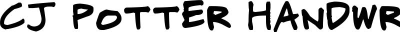 CJ Potter Handwriting Font