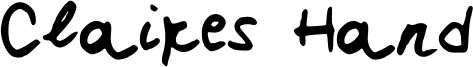 Claires Hand Font