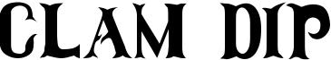 Clam Dip Font