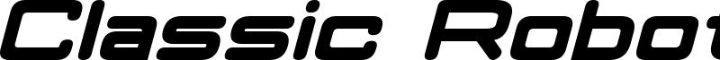 Classic Robot Bold Italic.otf