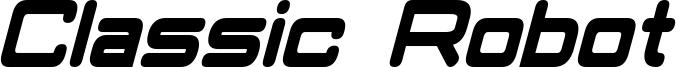 Classic Robot Condensed Bold Italic.otf
