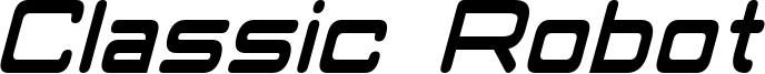 Classic Robot Condensed Italic.otf