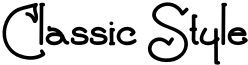 Classic Style Font