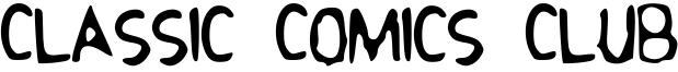 Classic Comics Club Font