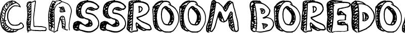 Classroom Boredom Font